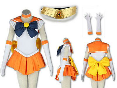 Sailor Moon Sailor Venus Costume Cosplay Dress Sailormoon NEW