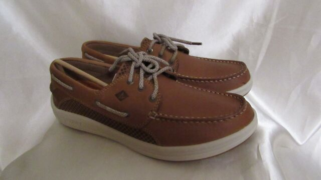 """MEN`S SPERRY TOP-SIDER """"GAMEFISH 3-EYE DK TAN"""" BOAT SHOES SIZE 9 M NEW"""
