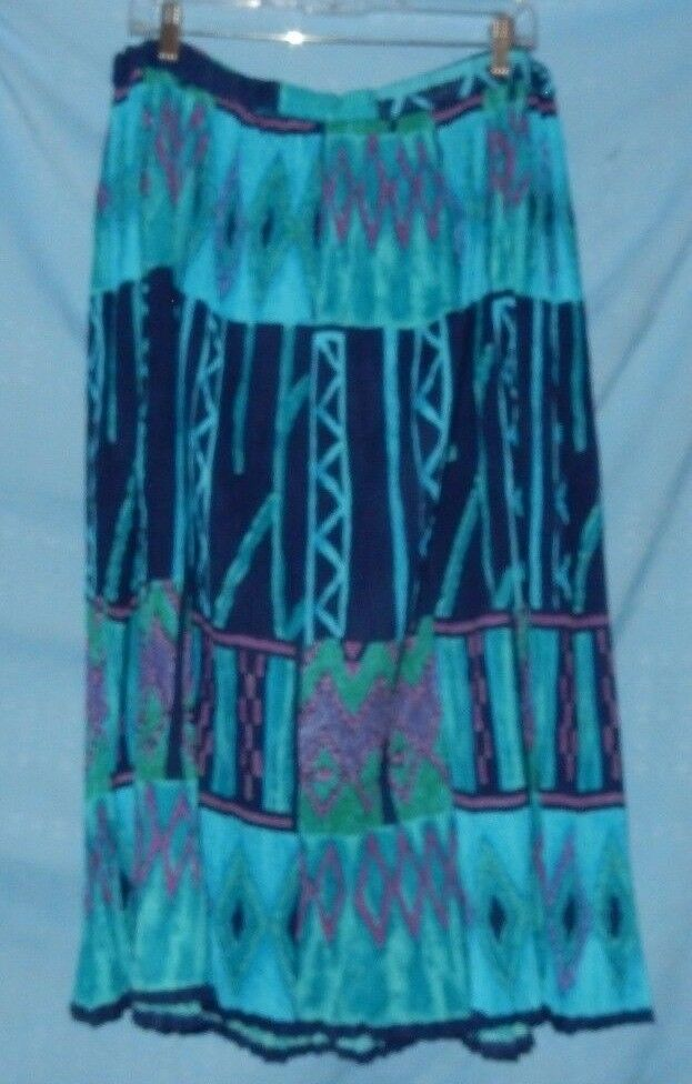 Le Mieux Studio Turquoise bluee Crinkle Skirt One Size Fits Most Southwest