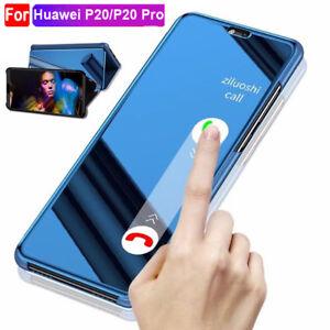 Funda-inteligente-Estuche-Abatible-Espejo-De-pie-Cubierta-Para-Huawei-P20-Pro