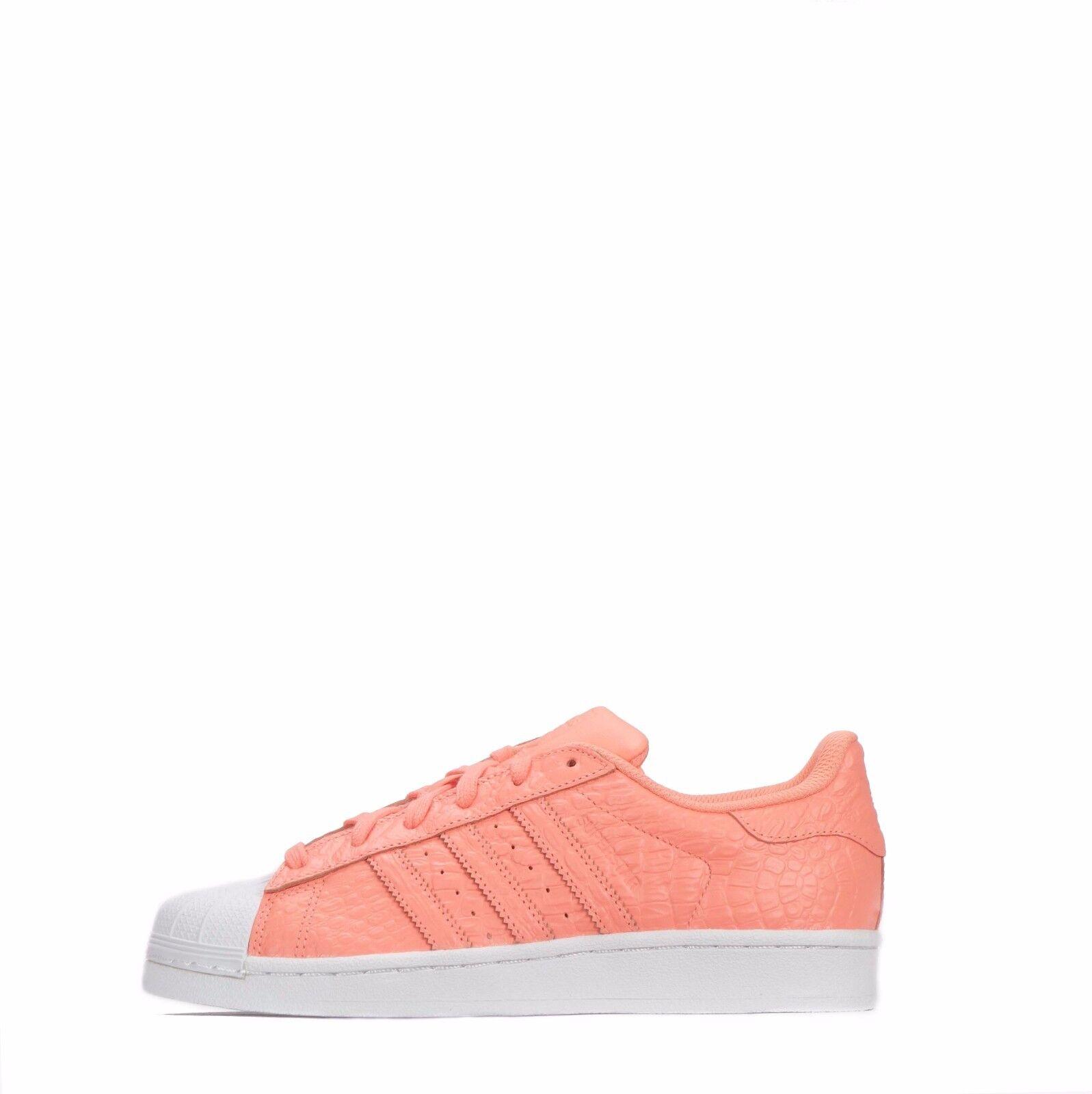 Adidas Originals Superstar Kroko Damen Schuhe Sonne-Schein Weiß