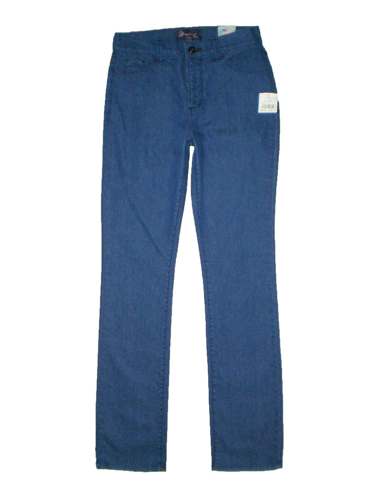 Not Your Daughters Jeans NYDJ Straight Leg Royal bluee Denim Jean Size 6 X 33 New