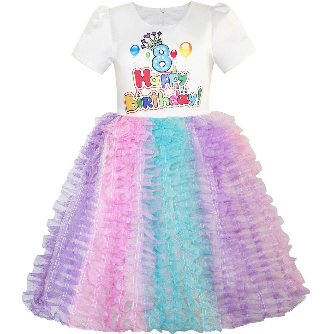 1st Birthday Princess Dress.Details About Flower Girl Dress Happy Birthday Princess Party 1st Birthday Tutu Dress Size 1 8