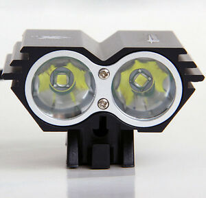 Black-U2-XML-2-CREE-MTB-Front-Light-Bicycle-Mountain-Bike-w-Charger-amp-Battery
