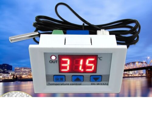 DC 12V 10A LED Digital Temperature Controller Thermostat Control Switch Probe L