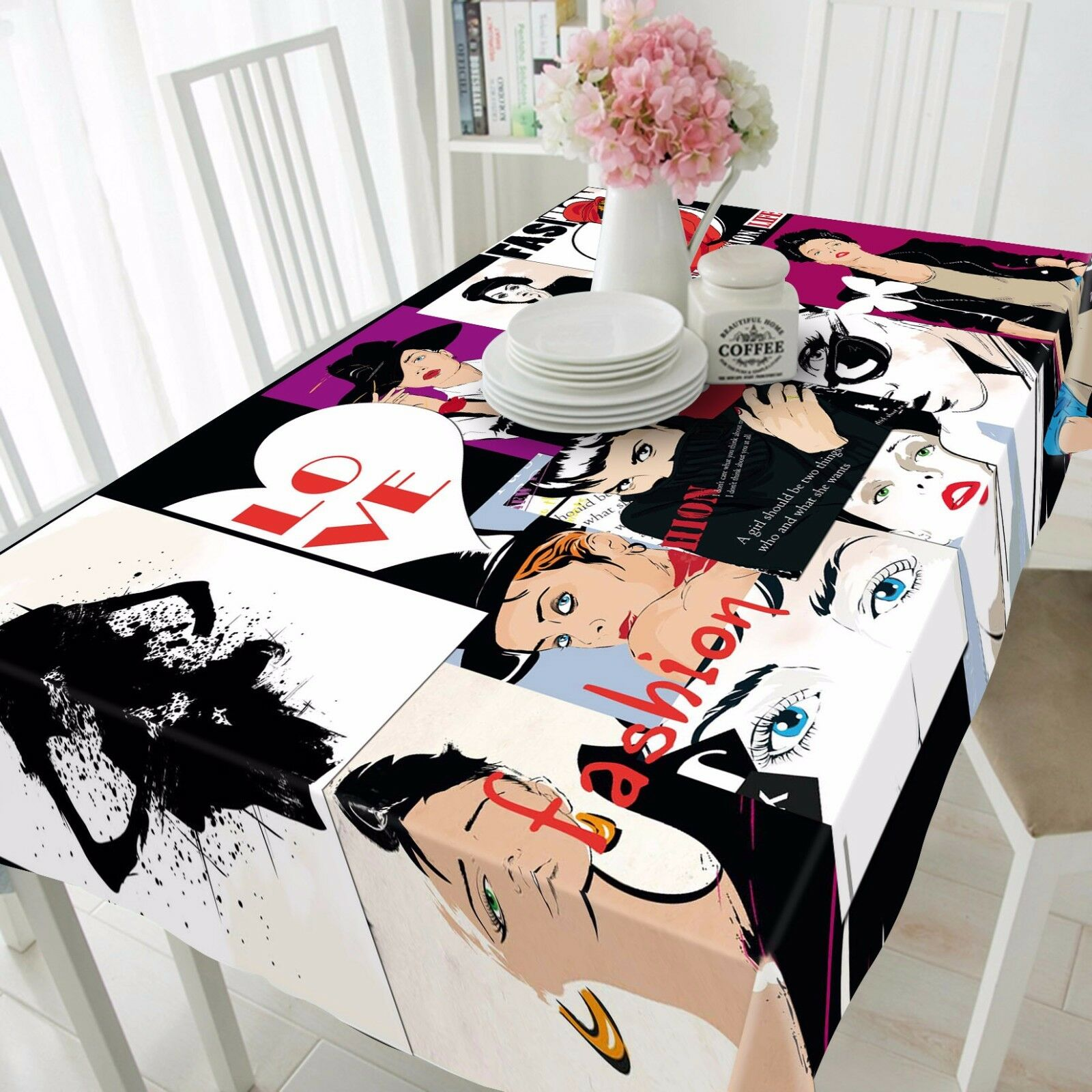 3D Figure 4607 Tablecloth Table Cover Cloth Birthday Party Event AJ WALLPAPER AU
