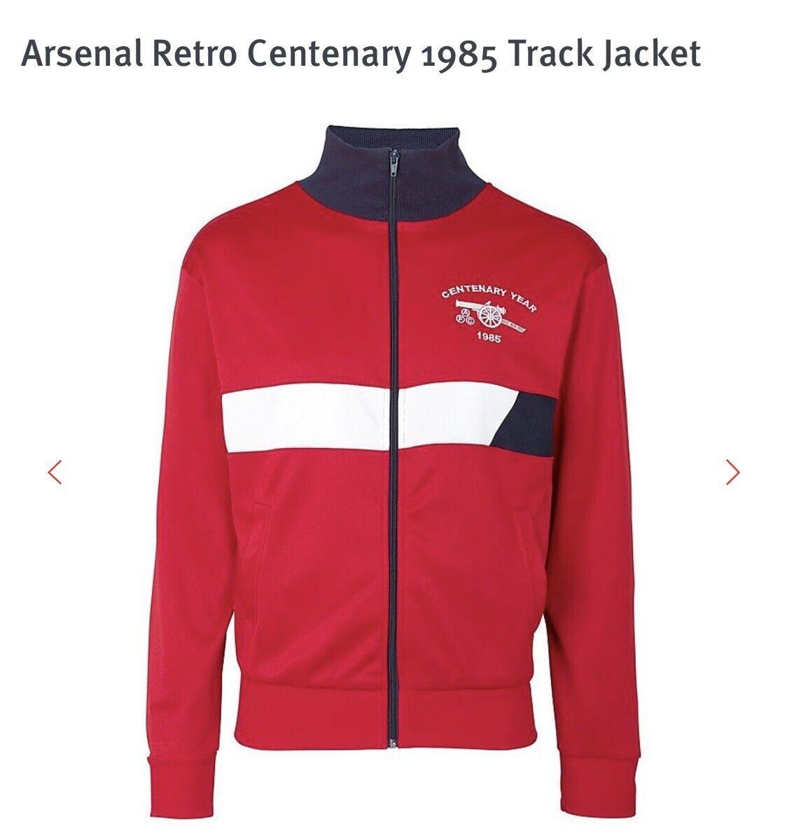 *NEW* Arsenal FC Football Retro Vintage 90's Track Jacket Mens Large L