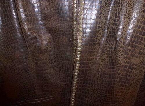Brown's Nowt Skin Gold Snake l Chico's Stud 3 Trim zaw6nq