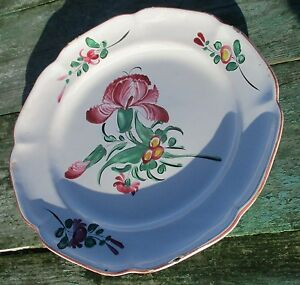Antique-Porcelain-Plate-18th-Century-Strasbourg-French-Faience-Luneville