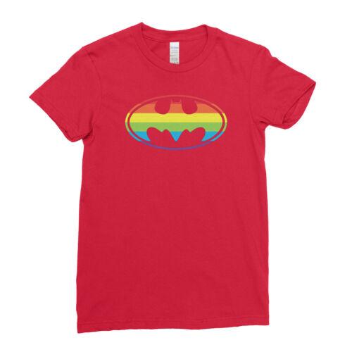 Gay Pride LGBT Superhero Batman Logo Rainbow Pattern   Mens Womens Kids T-Shirt