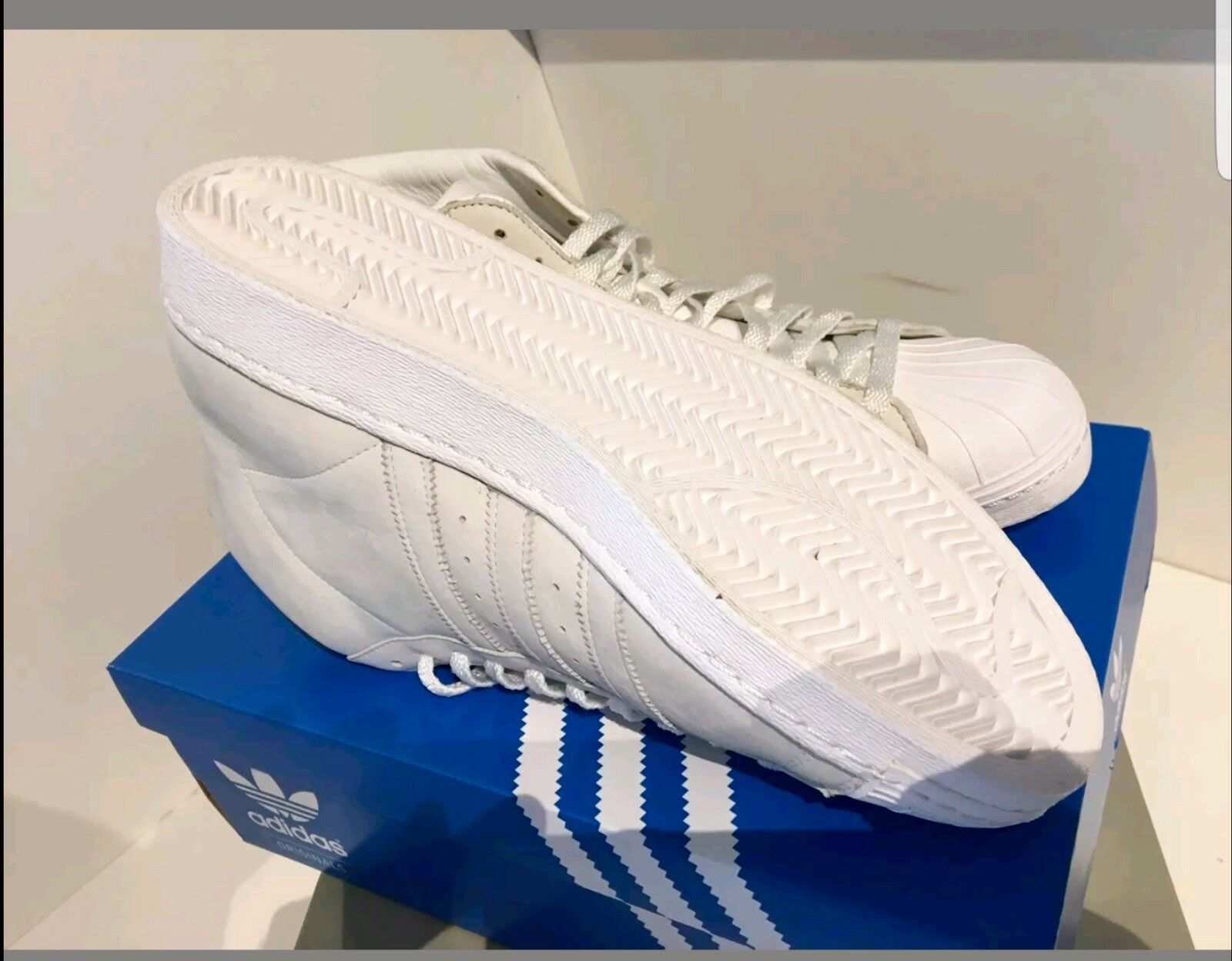Adidas Superstar Mens ProModel Mid Trainers  genuine  UK 11  ( )