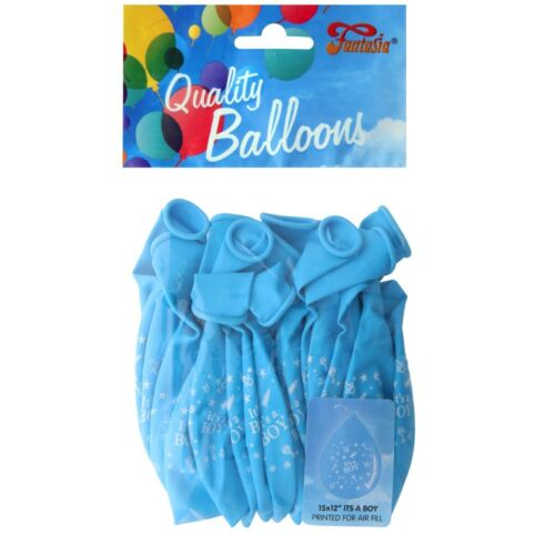 """12/"""" BABY SHOWER BALLOONS Latex New Boy Girl Pink Blue Party Wall Decoration UK"""