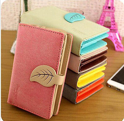 Lady Women Fashion Cute Purse Clutch Wallet Bag PU Card Holder New Candy Color