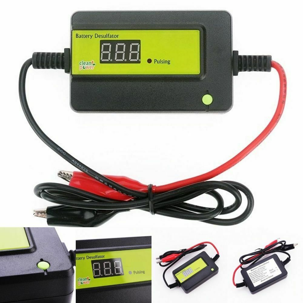 Green Lead Acid Auto Battery Desulfator Conditioner Regenerator 12 24 36 48 New