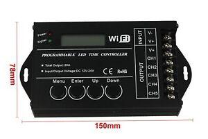 Contrôleur de temps Tc421 de contrôleur de temps de Sunrise Sunset 12v 24v 20a Wifi