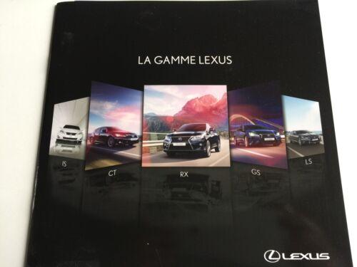RARE Catalogue brochure Katalog LEXUS GAMME Année 2012 20 pages