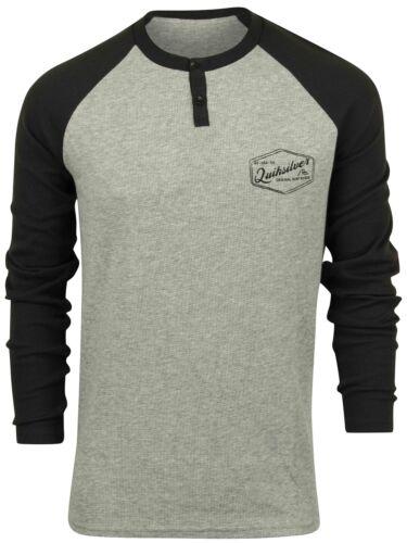 Quiksilver Mens Polar Waters LS Raglan Shirt Gray//Tarmac Gray