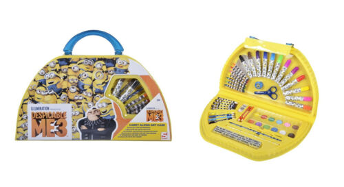 Minions Art Case Colouring Drawing Painting Set Kids Carry Case Despicable Me 3