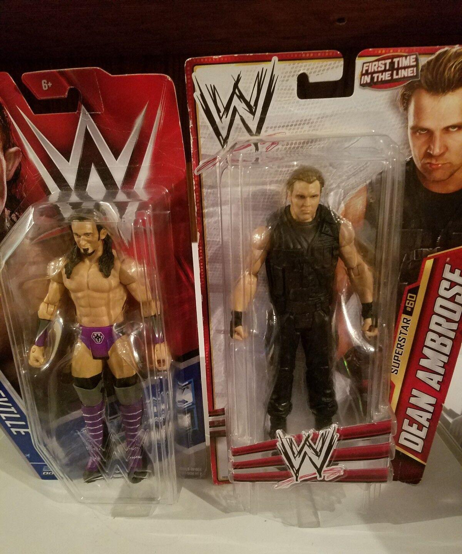 Mattel WWE Basic Dean Ambpink and Neville Action Figure Bundle
