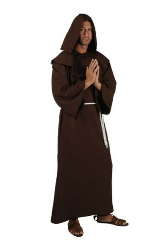 """Brown up to  a 50/"""" chest Medieval Monk Friar Tuck Black"""