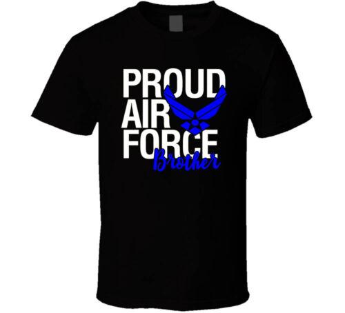 Tee Bangers Proud Air Force Brother shirt black white tshirt men/'s free shipping