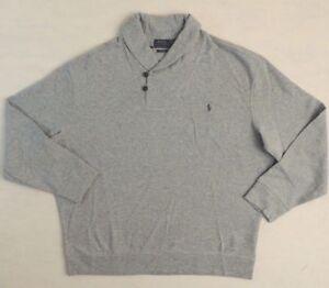 145-Polo-Ralph-Lauren-Pony-Estate-Rib-Shawl-Sweatshirt-Sweater-Shirt-Big-Tall