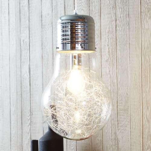 Brilliant Pendelleuchte /'Bulb/' Hängeleuchte Glas Modern dimmbar Wohnzimmerlampe/'