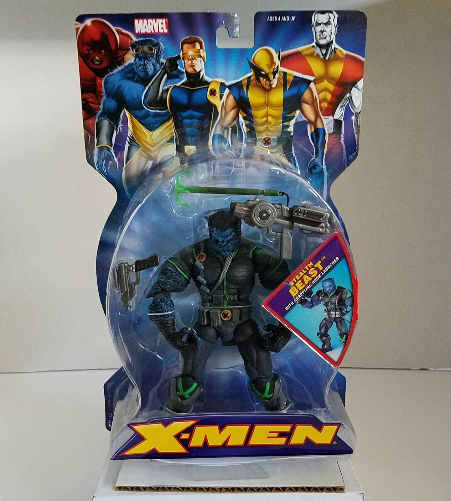 Toybiz 2005 marvel - x - men - stealth - biest mit enterhaken action - figur