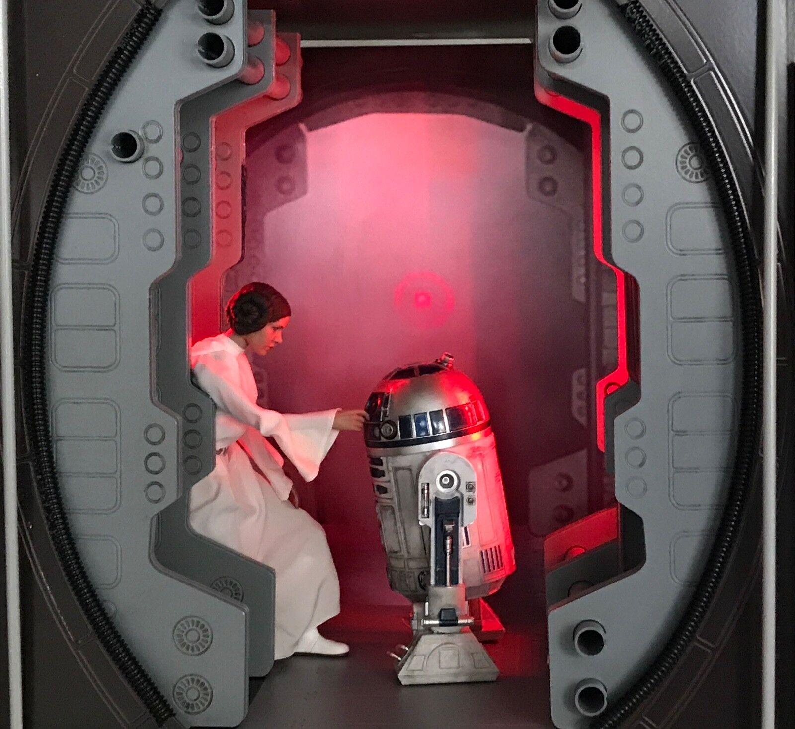 1/6 Tantive Service Corridor Diorama for Sideshow Hot Toys Princess Leia & R2-D2