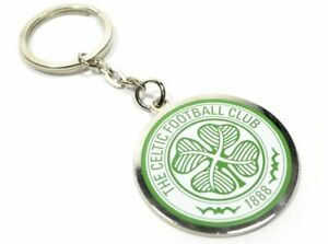 Celtic-Football-Club-Round-Crest-Keyring-One-Size-Official-Licensed