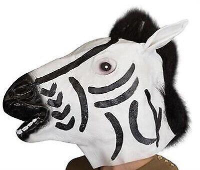 Zebrahoved maske i gummi - voksne, Andet legetøj