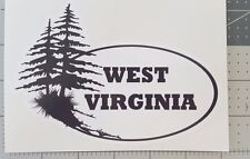 West Virginia Decal Sticker Indoor Outdoor New Design! Black and White