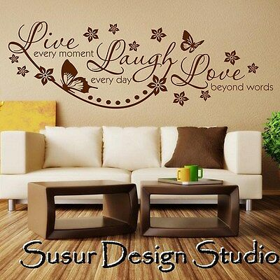 Wall Quote Live Laugh Love Wall Sticker Vinyl Wall Art Home Decal SVIL05
