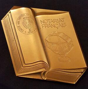 A0362-Medaille-NOTARIAT-FRANCAIS-Caisse-des-Depots-et-Consignations-1983
