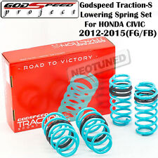 GODSPEED TRACTION-S LOWERING SPRINGS FOR HONDA CIVIC DX LX EX SI 2012-2015 FG/FB