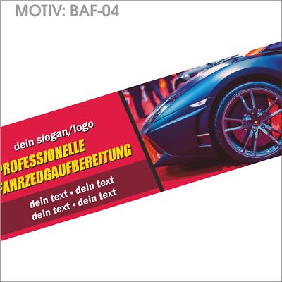 Werbebanner Inkl Gestaltung, Für Fahrzeugaufbereitung (baf-04) Diversifiziert In Der Verpackung