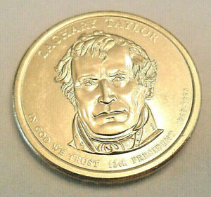 2009 D COLORIZED ZACHARY TAYLOR DOLLAR COIN
