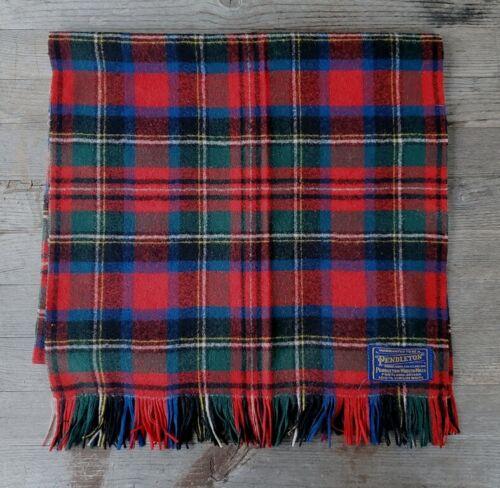 Vintage Pendleton Woolen Mills Scarf - Red Tartan… - image 1