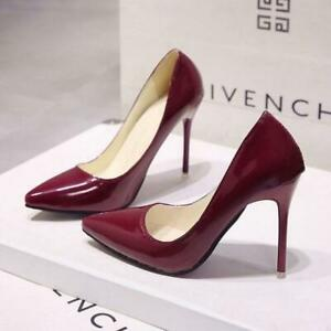 2019-HOT-Women-Shoes-Pointed-Toe-Pumps-Patent-Leather-Dress-High-Heels-Shoes
