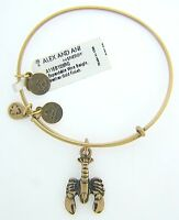 Alex And Ani Lobster Charm Bangle With Gold Finish 36