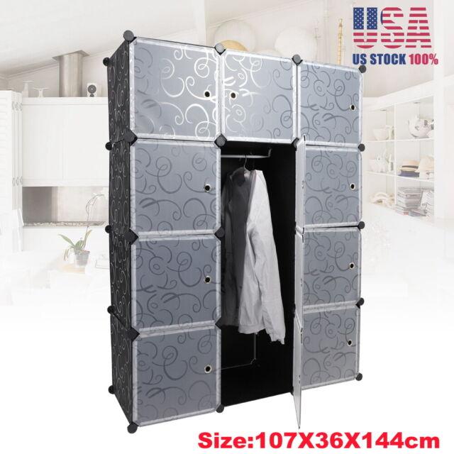 20 Cube Modular Closet Cabinet Wardrobe Clothes Storage Organizer
