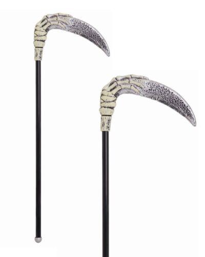 Halloween Grim Reaper Axe Death Scythe Devil Fork Trident Plastic Weapon Skull