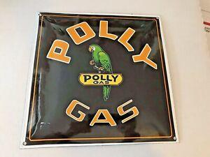 """Porcelaine Publicité Polly Gaz Essence Signe 12"""" X 12""""-afficher Le Titre D'origine Duhwngpc-08010556-179313668"""