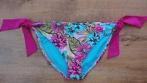 BNWT-14-CORAL-BAY-BEACHWEAR-Pink-Turquoise-SideTie-Bikini-Bottoms-Size-20