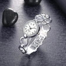 Fashion Damen Armbanduhr Edelstahl Damenuhr Strass Uhr Silber Digital Elegant