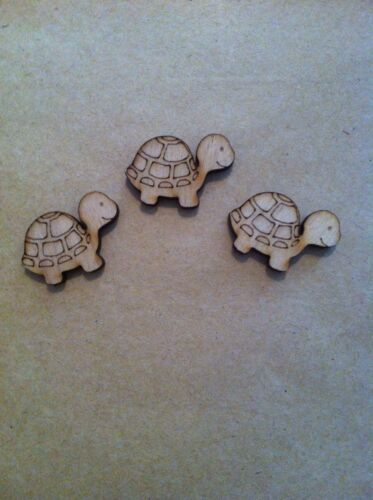 crafts embellishment cardmaking x10 wooden Turtles