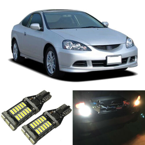 White LED 921 W16W Backup Reverse Light Bulbs For 2005-2006 Acura RSX