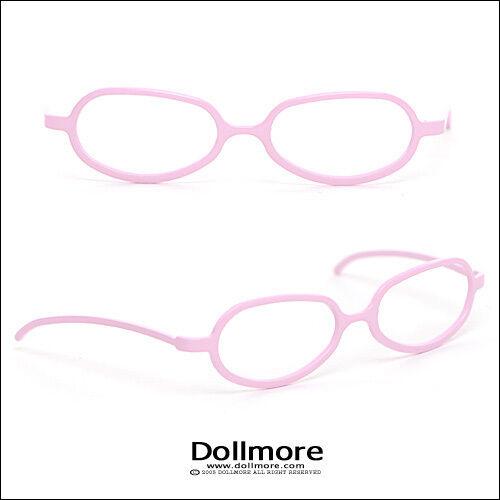 1//3 BJD acc SD Pink Shape Steel Lensless Frames Dollmore