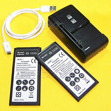 New 2x 3580mAh battery Wall Charger Cable For Net10 Samsung Galaxy Mega 2 G750A
