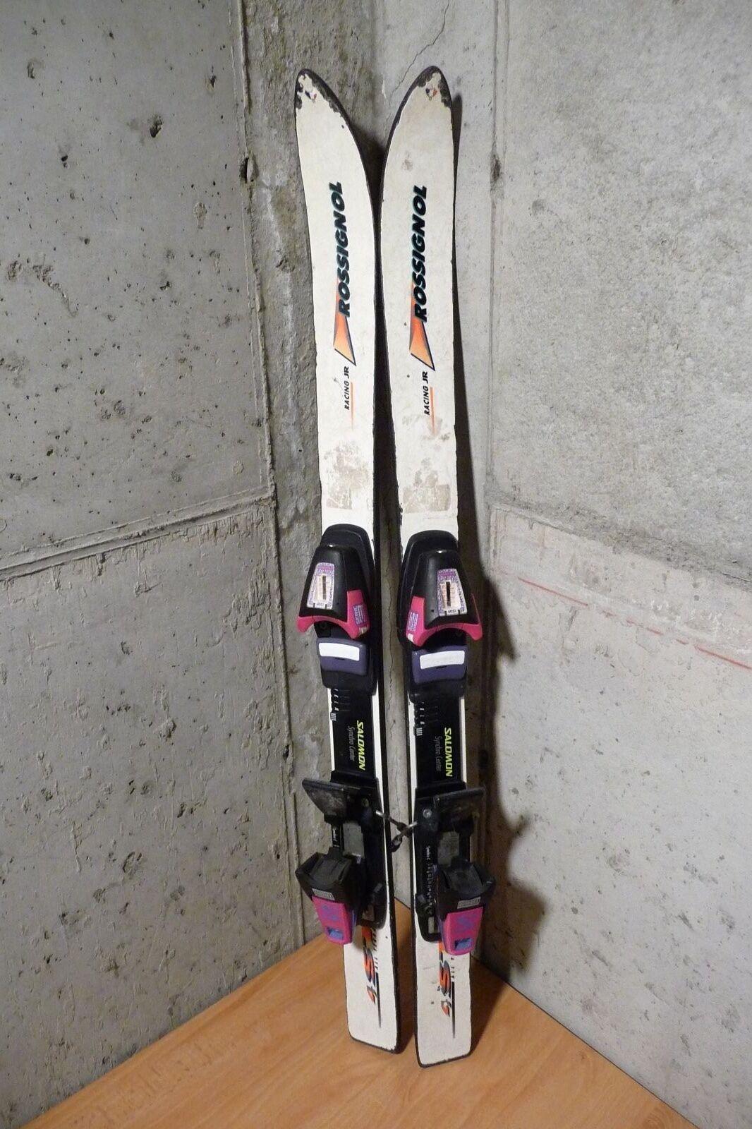 Kid skis Vintage Rossignol Racing JR 100 cm Salomon Series 3 bindings
